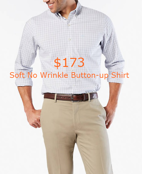 173Soft No Wrinkle Button-up Shirt