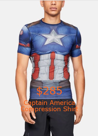 285 Captain America Compression Shirt