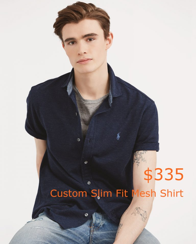 335Custom Slim Fit Mesh Shirt