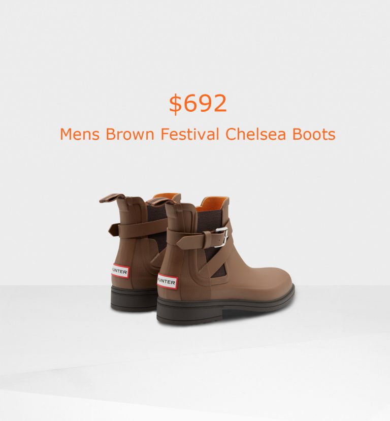 692Mens Brown Festival Chelsea Boots