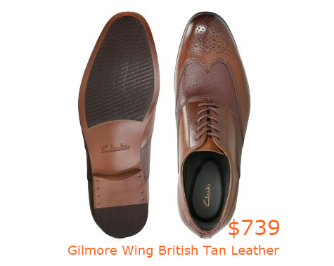739Gilmore Wing British Tan Leather