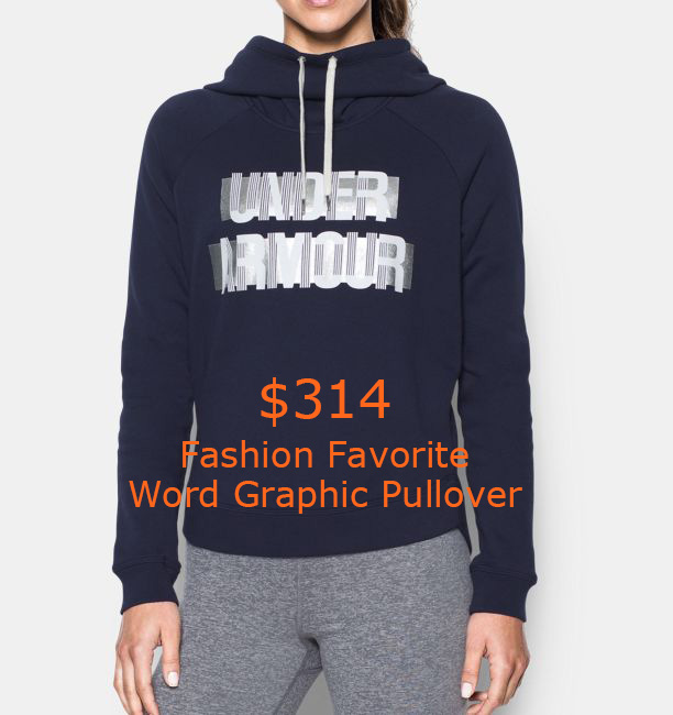 314Women's UA Fashion Favorite Word Graphic Pullover