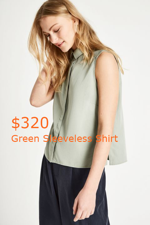 320Green Sleeveless Shirt