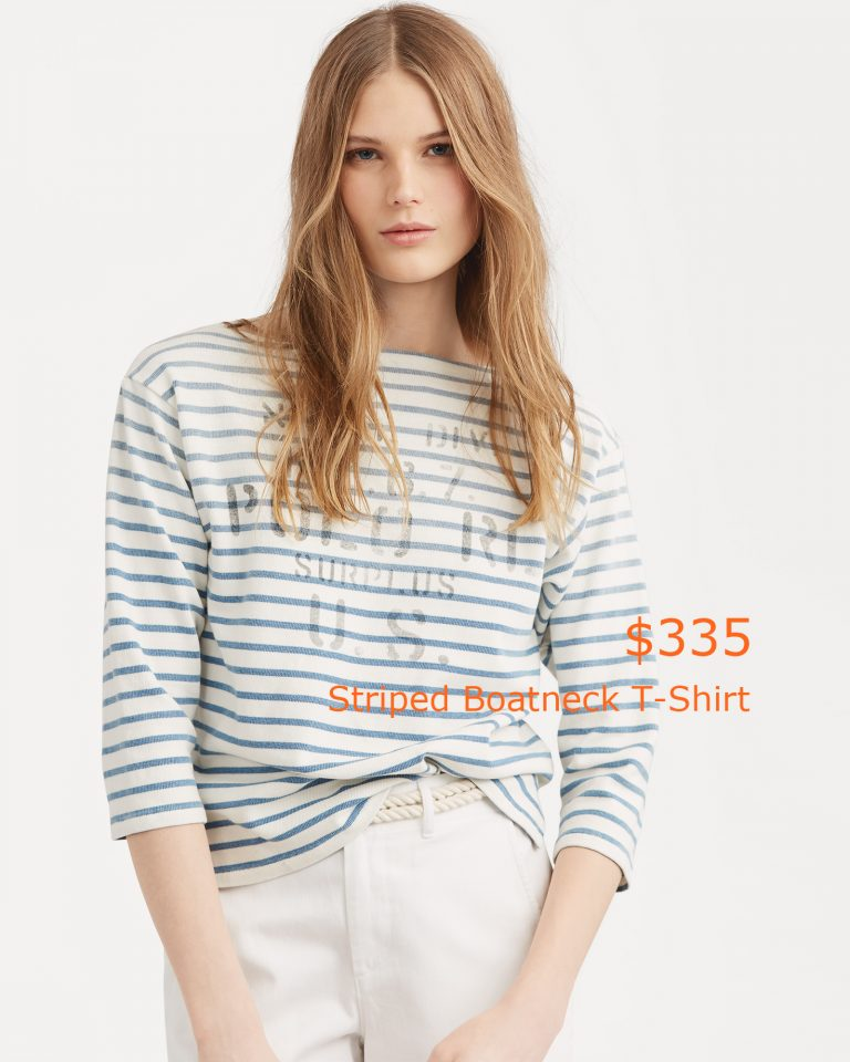 335Striped Boatneck T-Shirt