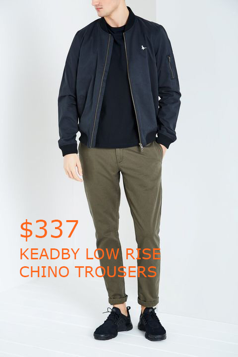 337KEADBY LOW RISE CHINO TROUSERS