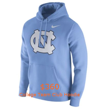360Nike College Team Club Hoodie