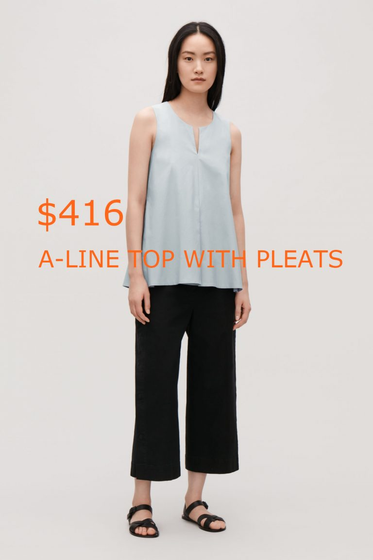 416A-LINE TOP WITH PLEATS