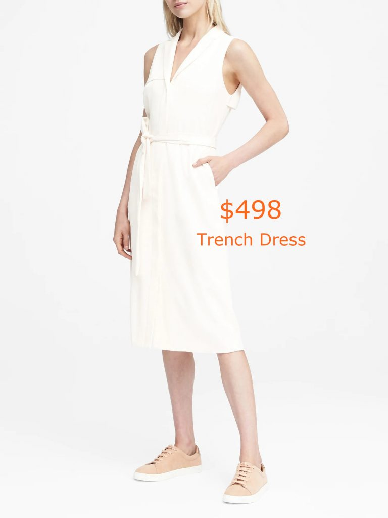 498Trench Dress