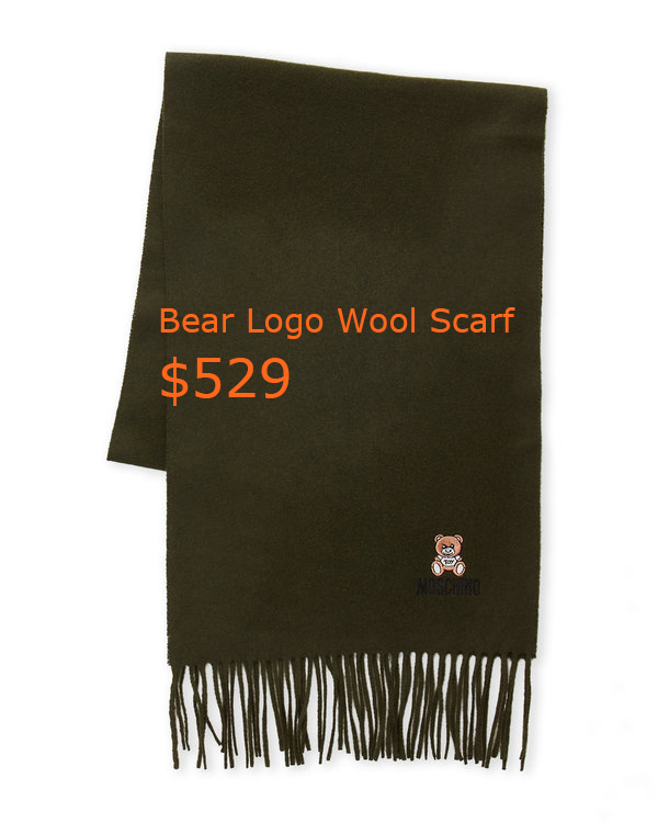 529Bear Logo Wool Scarf