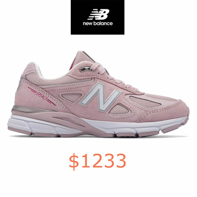 1233Womens 990v4 Made in US Pink Ribbon