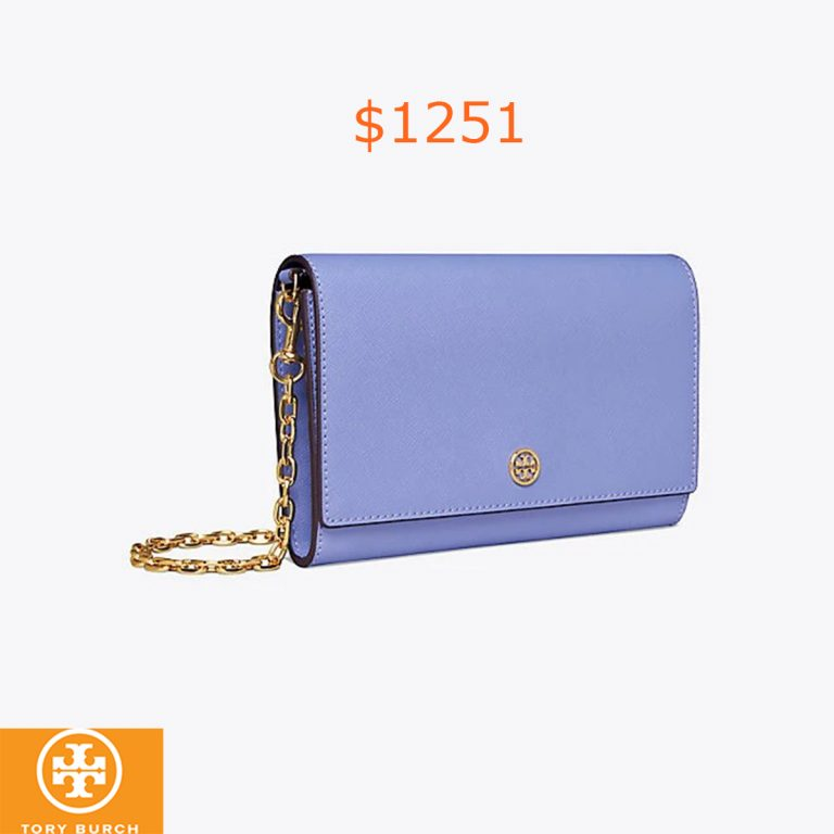 1251Tory Burch Robinson Chain Wallet