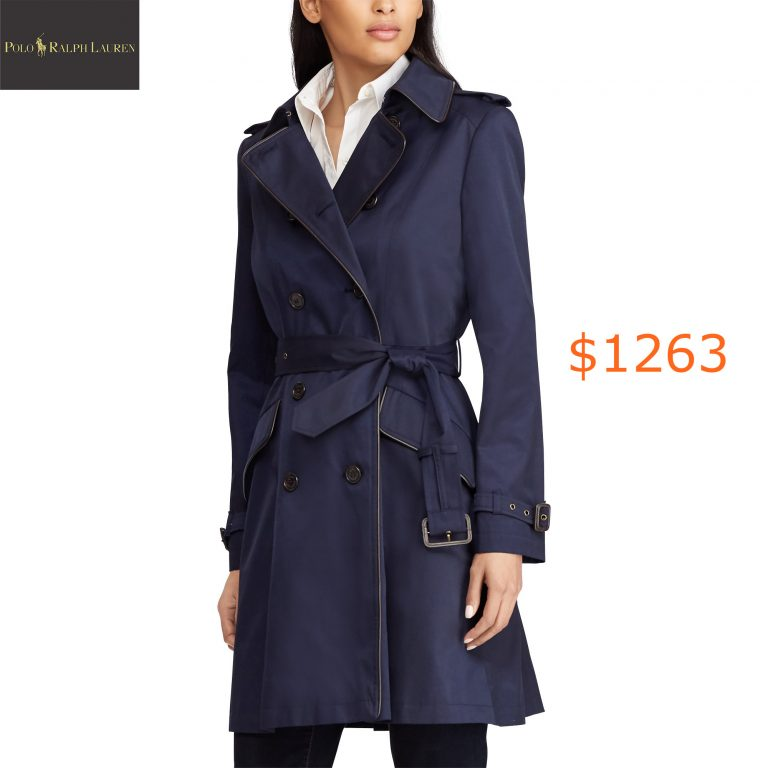 1263Cotton-Blend Trench Coat