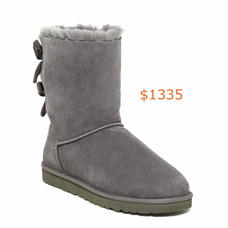 1335UGG - Bailey Bow Corduroy Genuine Shearling Fur Boot