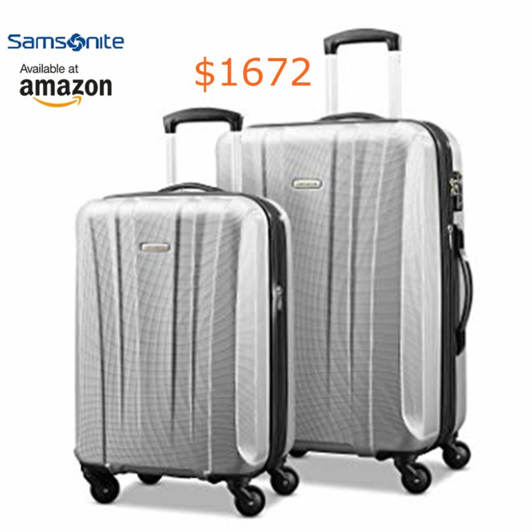 1672 Samsonite Pulse Dlx Lightweight 2 Piece Hardside Set (20--24-), Silve