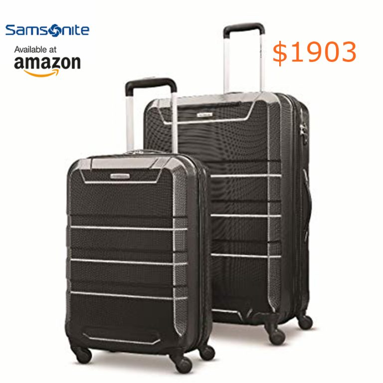 1903 Samsonite Invoke 2 Piece Nested Hardside Set (20--28-), Black