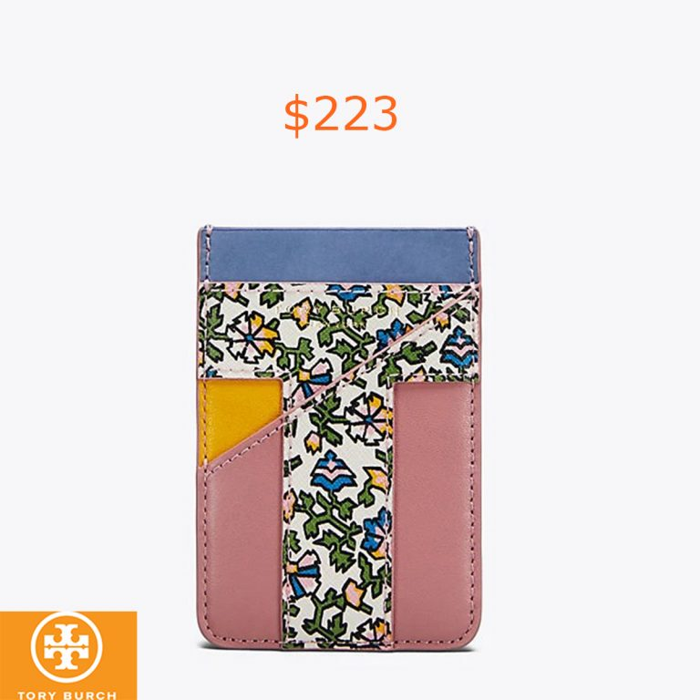 223Tory Burch Color-block Phone Card Pocket