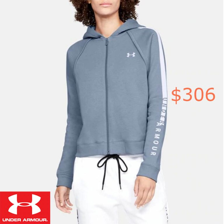 306Women's UA Rival Fleece Full Zip Hoodie