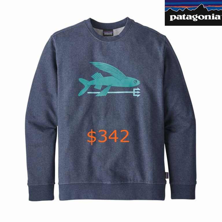 342Patagonia Men's Flying Fish Midweight Crew Sweatshirt