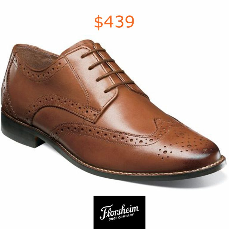 439 Cognac Wingtip Oxford