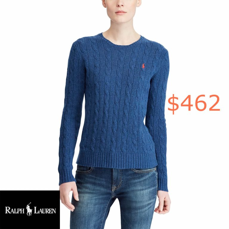 462Cable Wool Crewneck Sweater