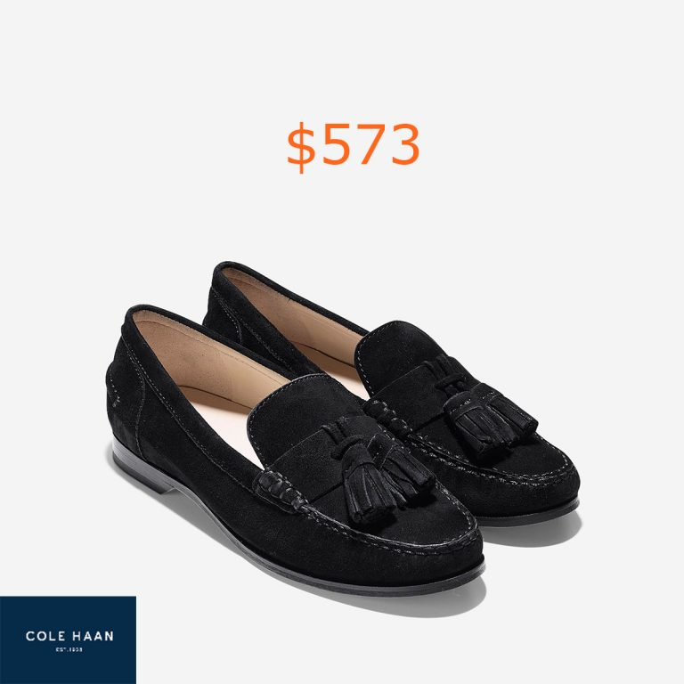 573Women's Emmons Tassel Loafers in Black Suede