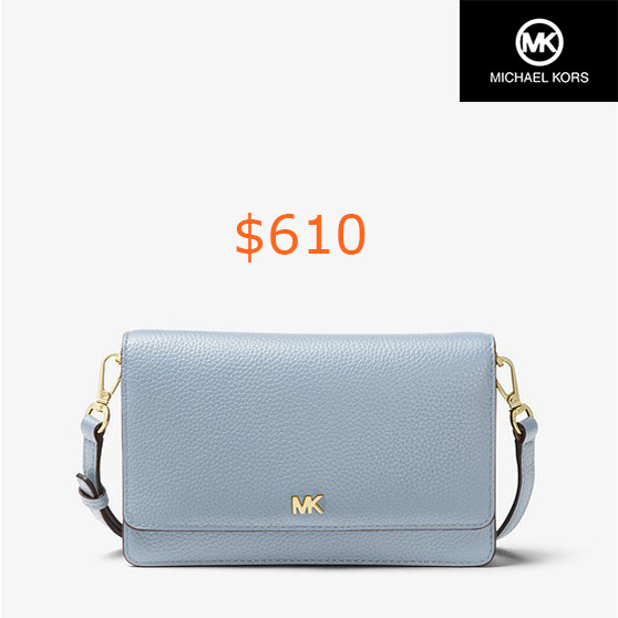 610Pebbled Leather Convertible Crossbody
