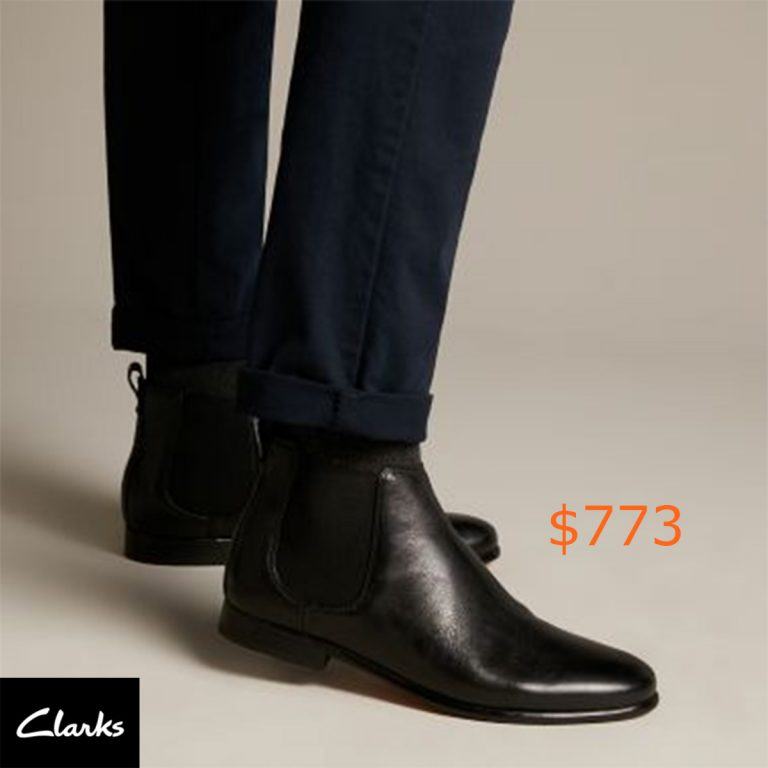 773-75Form Chelsea Black Leather