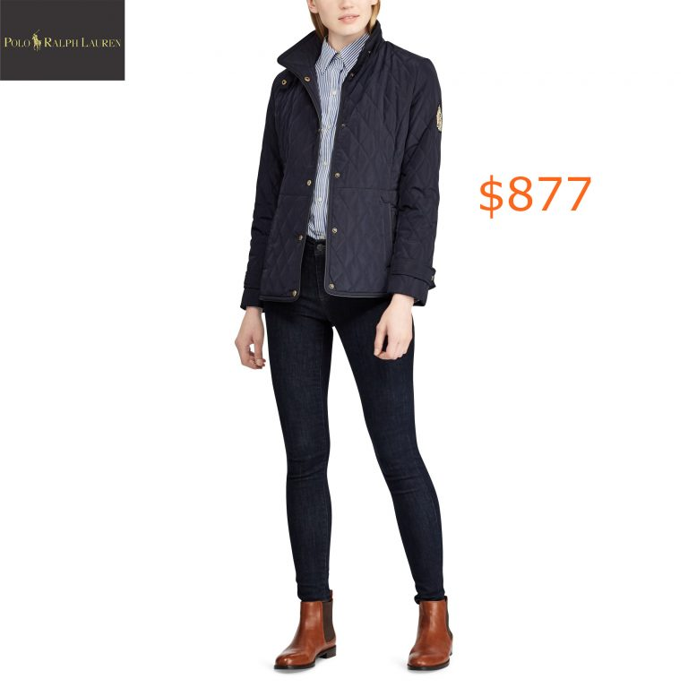 877Crest-Patch Quilted Jacket