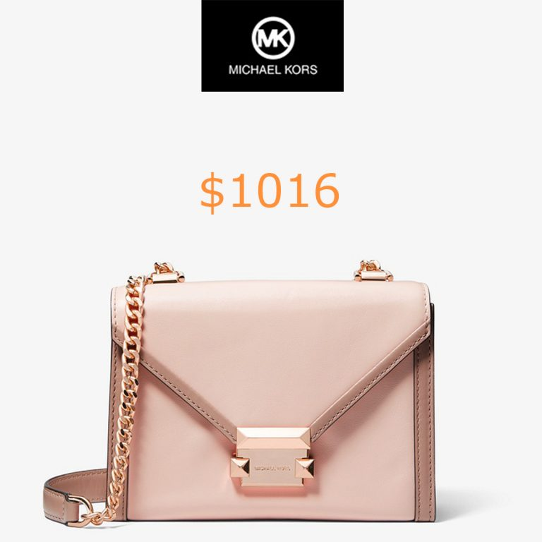 1016Whitney Small Two-tone Leather Convertible Shoulder Bag