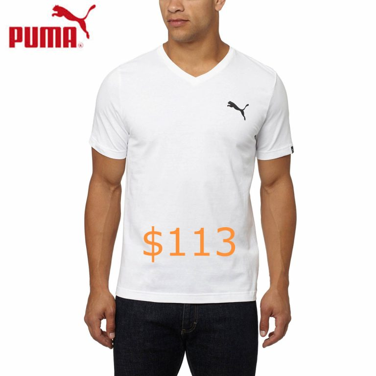 113PUMA Iconic V-Neck T-Shirt