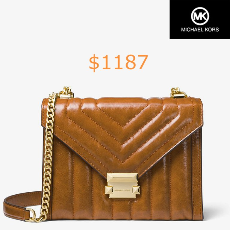 1187Whitney Large Quilted Leather Convertible Shoulder Bag