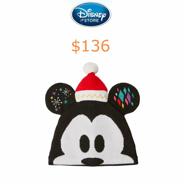 136Mickey Mouse Light-Up Knit Holiday Ear Hat for Kids