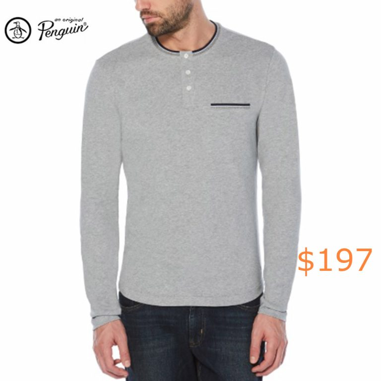 197TIPPED POCKET HENLEY