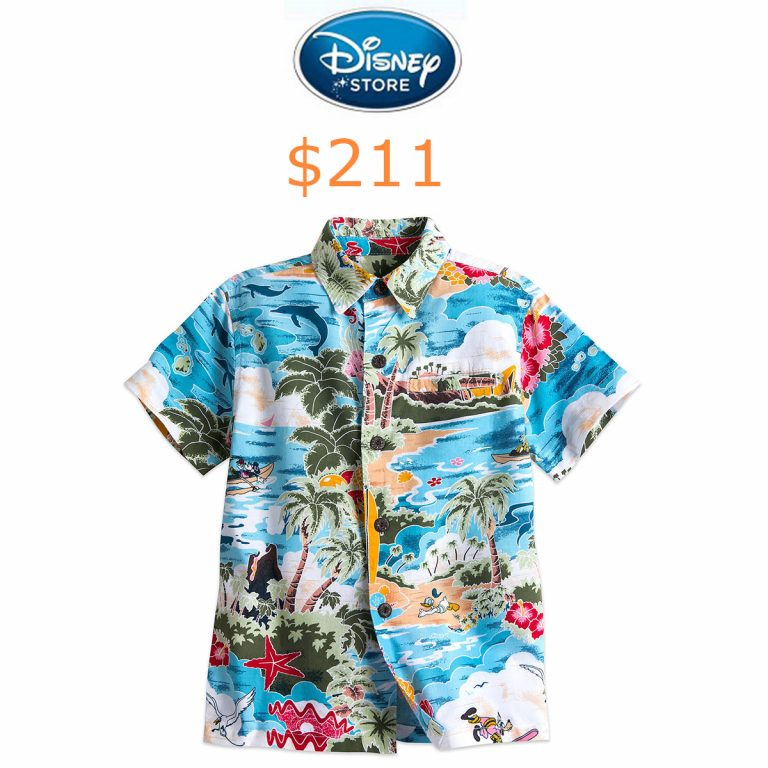 211Mickey Mouse and Friends Hawaiian Shirt for Boys