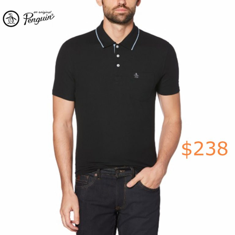 238Original Penguin Men's Solid Pique Short Sleeve Polo