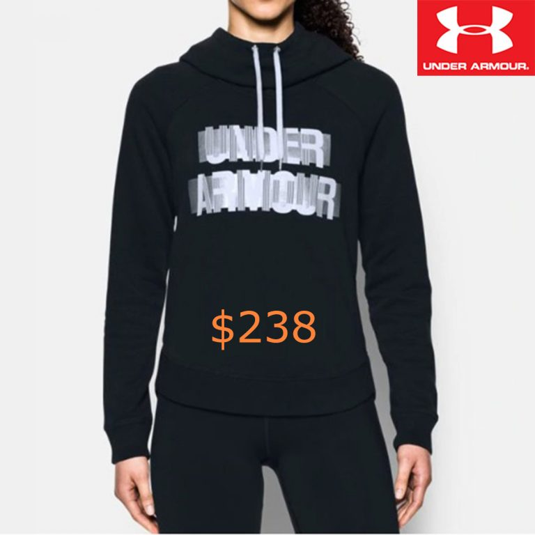 238Women's UA Fashion Favorite Word Graphic Pullover