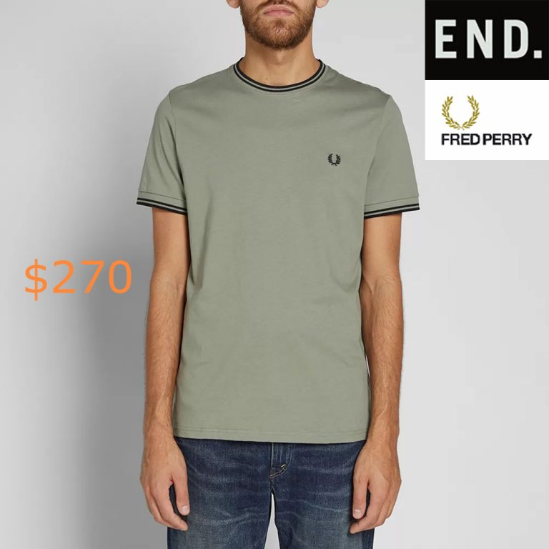 270Fred Perry Twin Tipped Tee