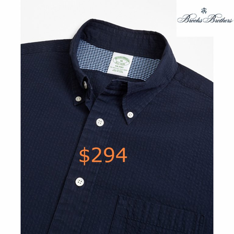 2947Milano Fit Seersucker Sport Shirt