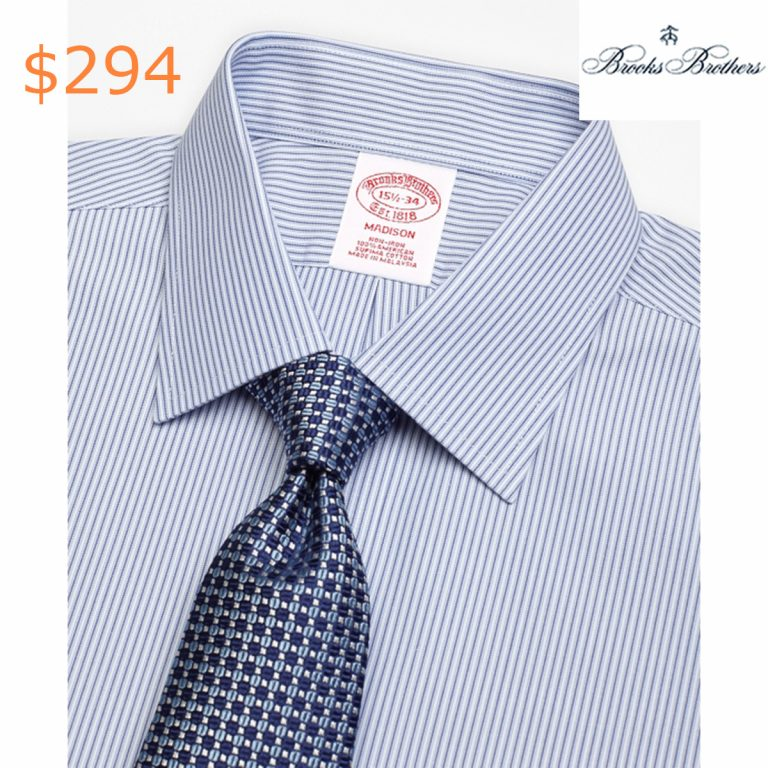 294Madison Classic-Fit Dress Shirt, Non-Iron Tonal Framed Stripe