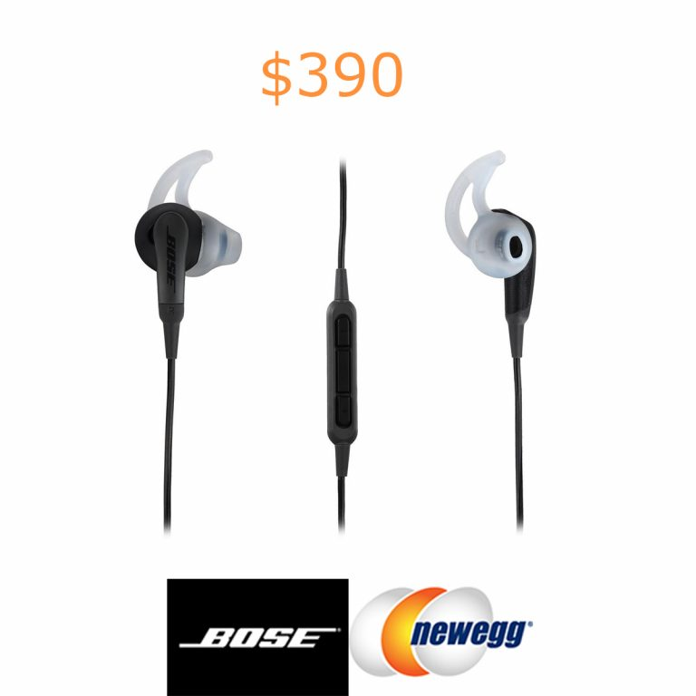 390Bose SoundSport In-Ear Headphones - Charcoal - iOS Devices