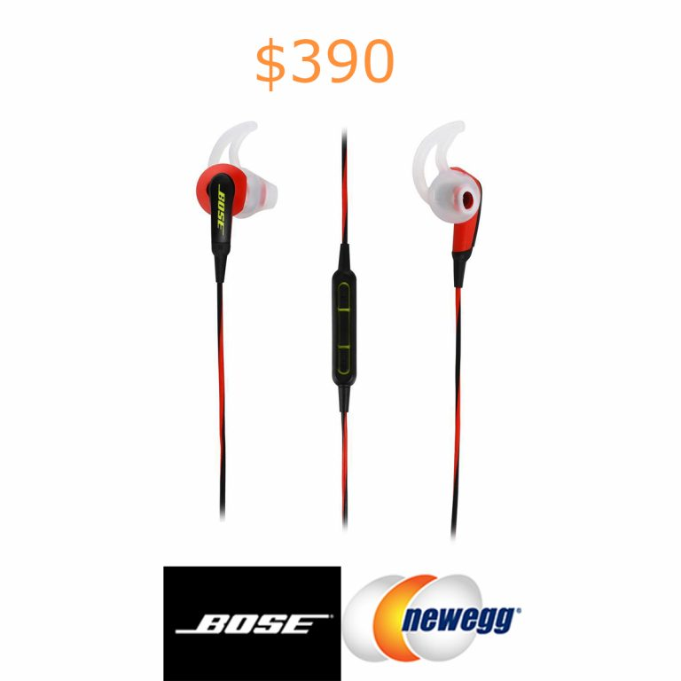 390Bose SoundSport In-Ear Headphones - Power Red - iOS Devices