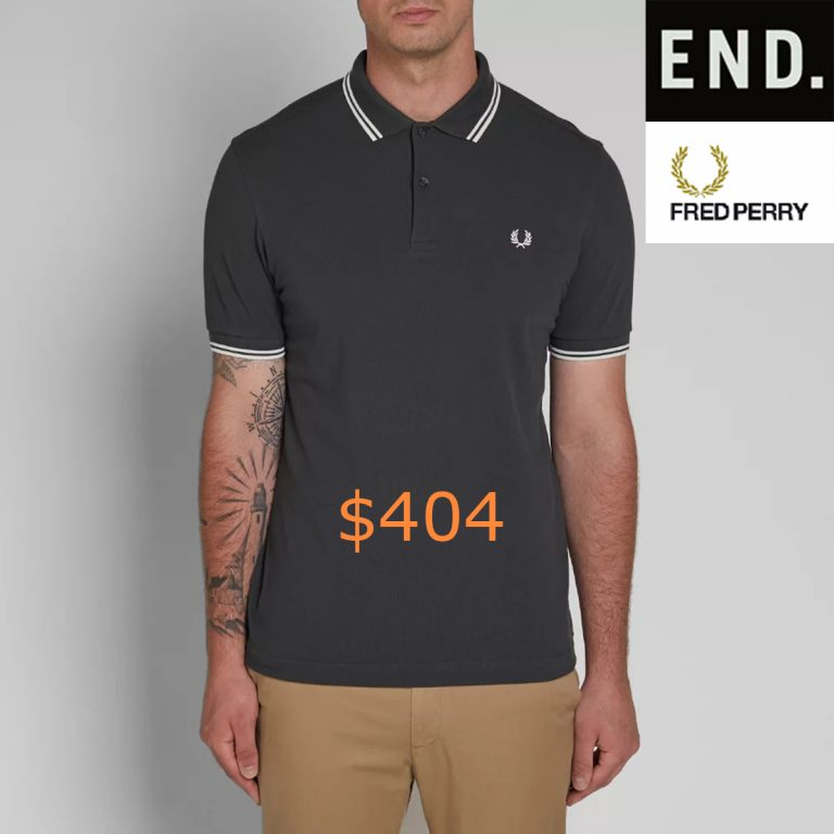 404Fred Perry Slim Fit Twin Tipped Polo