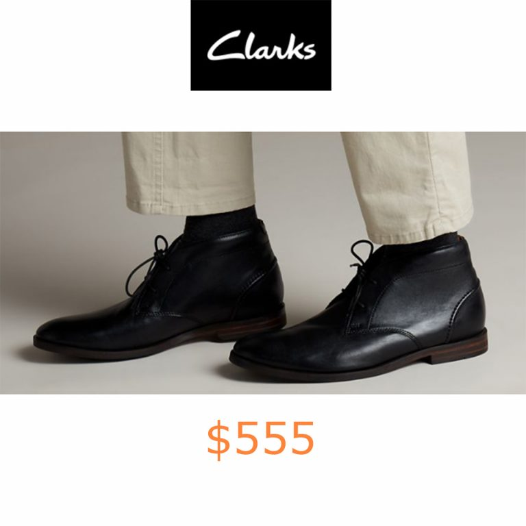 555Glide Chukka Black Leather