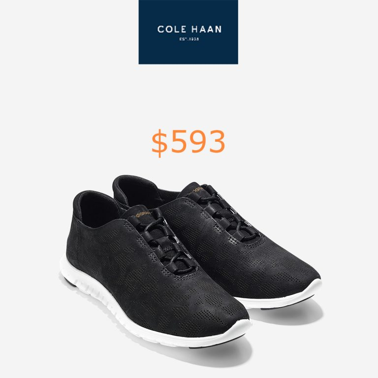 593ZEROGRAND Perforated Trainer Sneakers