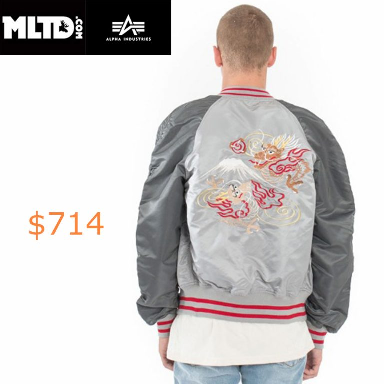 714Alpha Industries, MA-1 Souvenir Double Dragon Jacket
