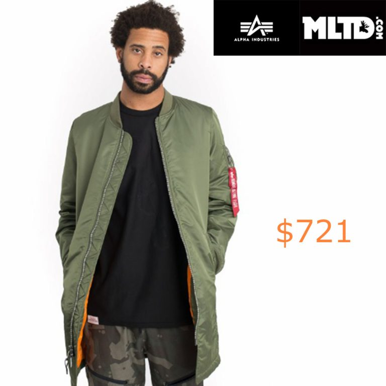 721Alpha Industries, MA-1 Long Jacket