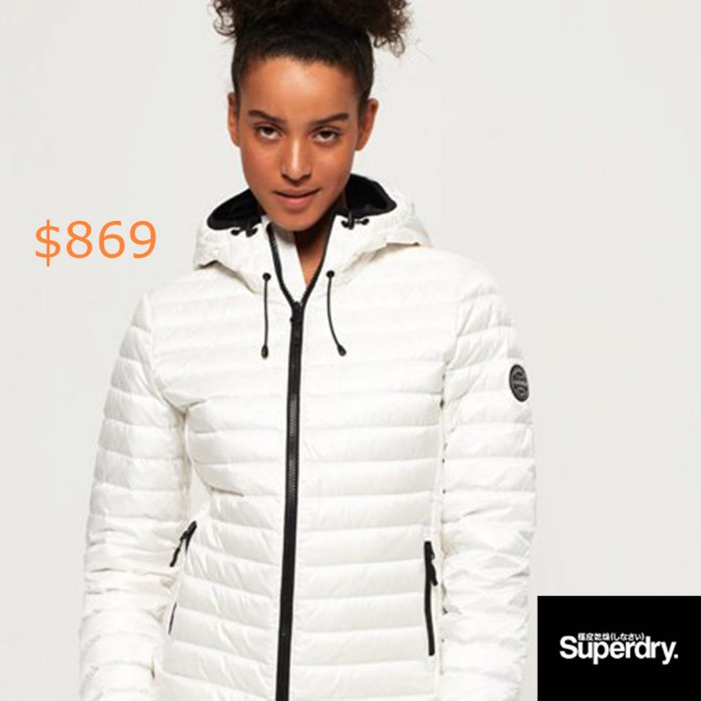 869Superdry Core Down Hooded Jacket