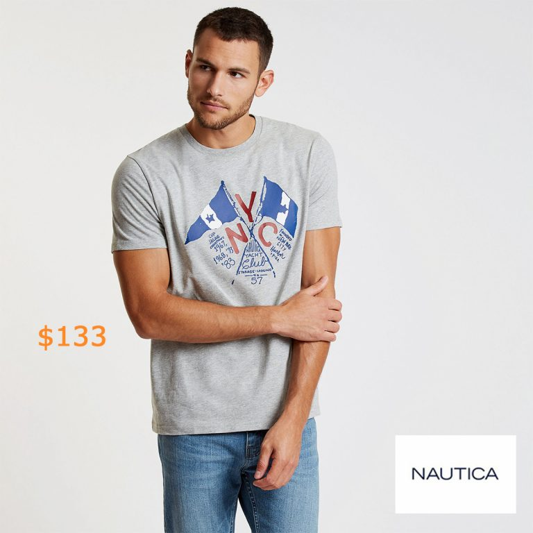 133Crossed Flags Crewneck T-Shirt