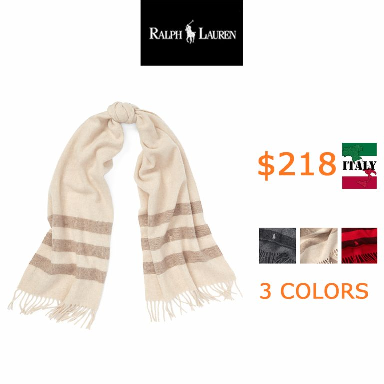 218Blanket-Stripe Wool Scarf