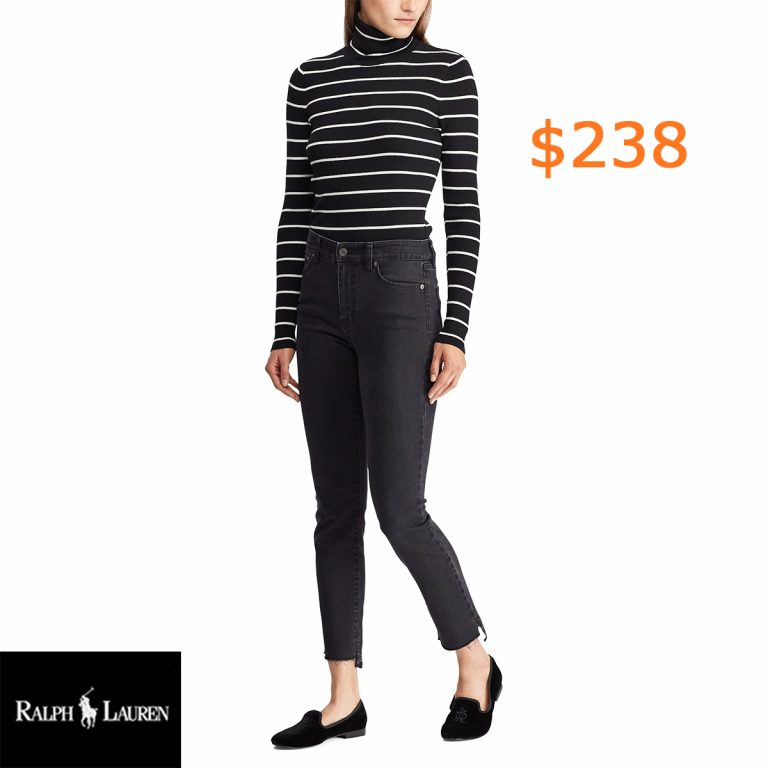 238Striped Turtleneck Sweater